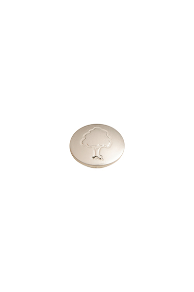 Axxys Brushed Nickel Cover Button