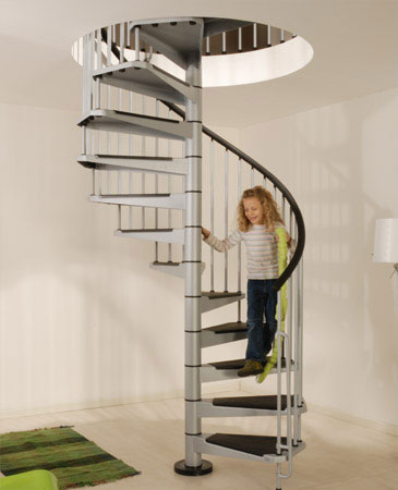 Civik 1600mm Spiral Stair Kit in Grey