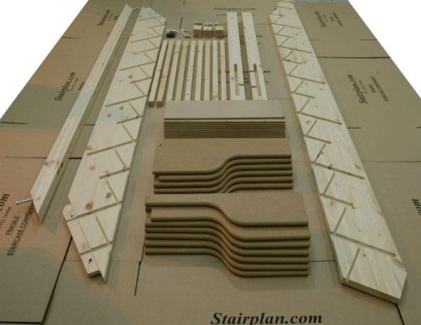 Flat Pack Spacesaving Staircase