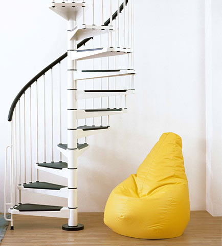 Civik 1600mm Spiral Staircase Kit in White
